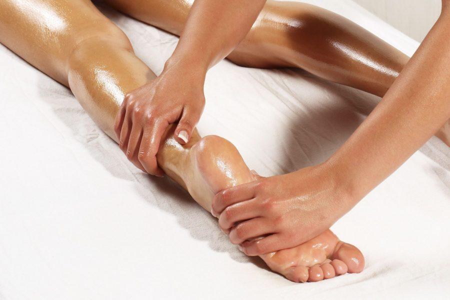 Female foot massage