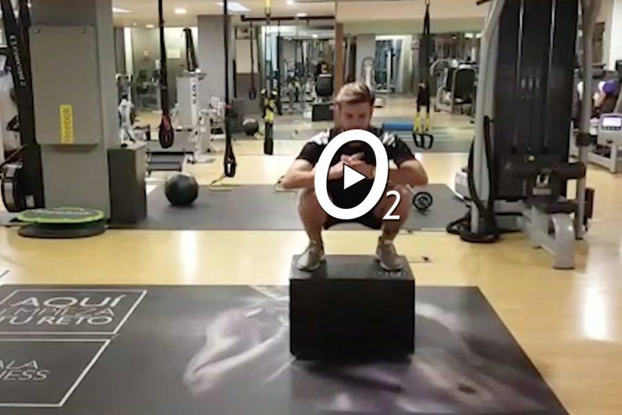 Quema calorías con Box Squats