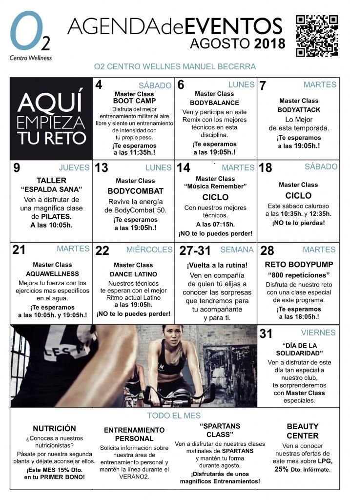 Agenda de Eventos Manuel Becerra Agosto 2018