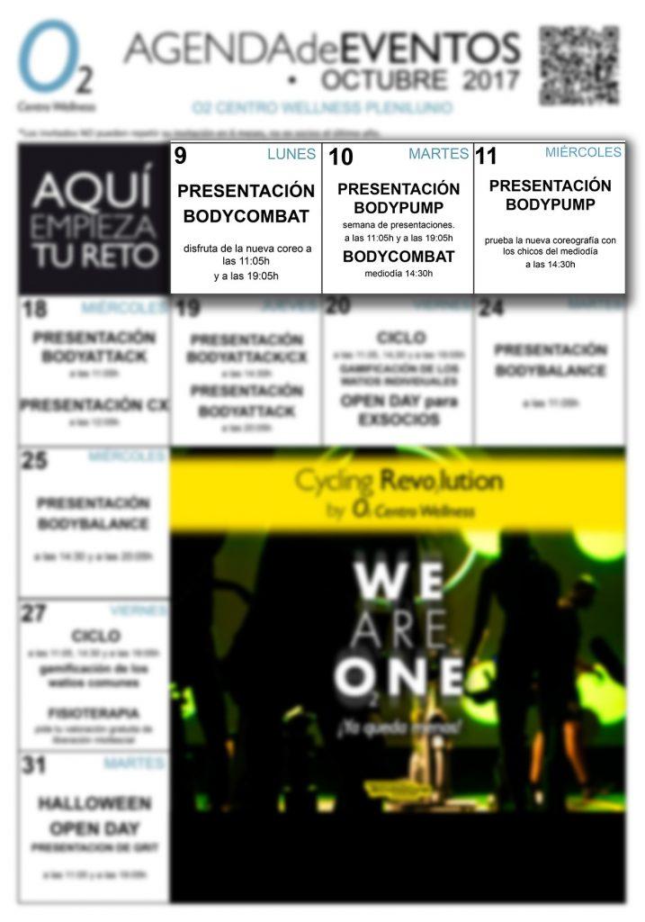 Agenda de eventos de octubre en o2cw plenilunio