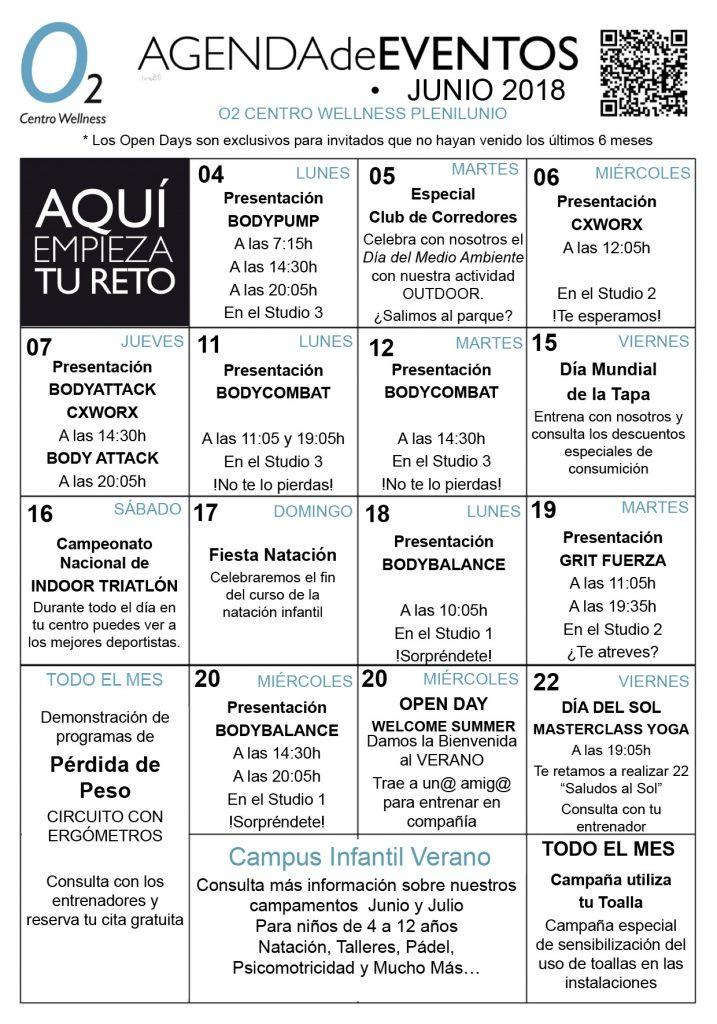 agenda de eventos o2cw plenilunio junio 2018