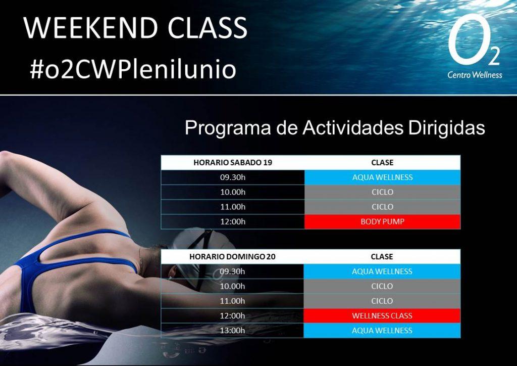 Weekend Class del 19 y 20 de Mayo en O2cw Plenilunio, Madrid.