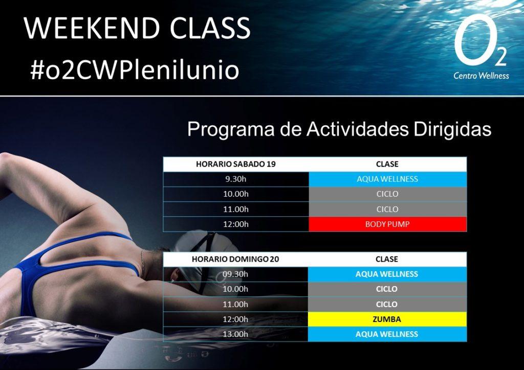 Horarios, SociO2, WeekendClass