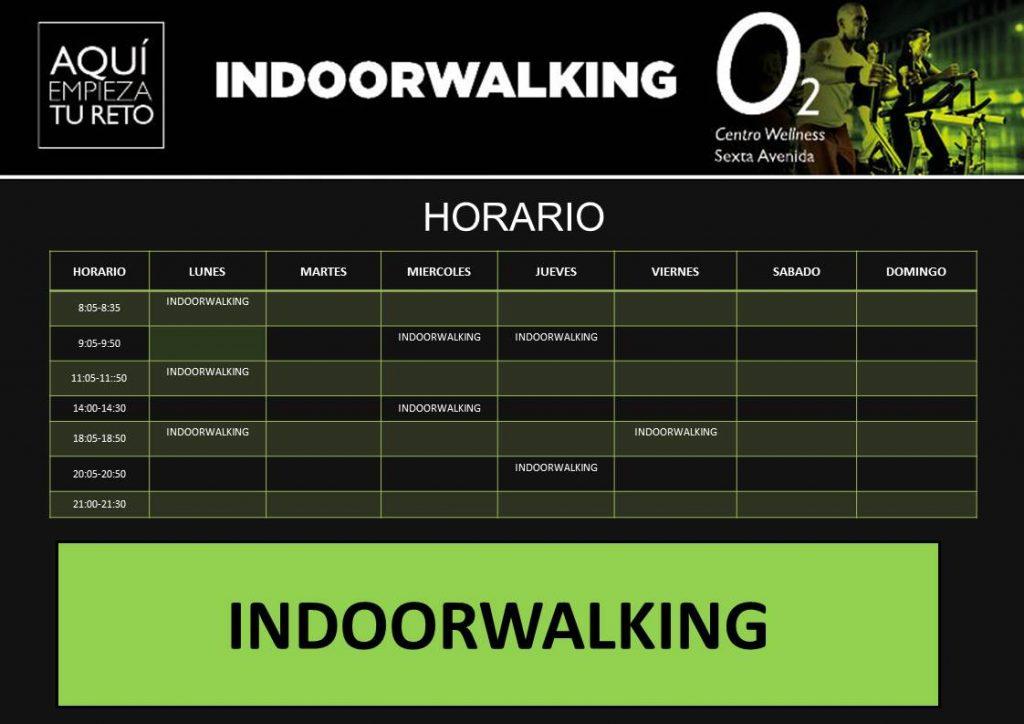 Panel editable clases Indoorwalking O2CW Sexta Avenida