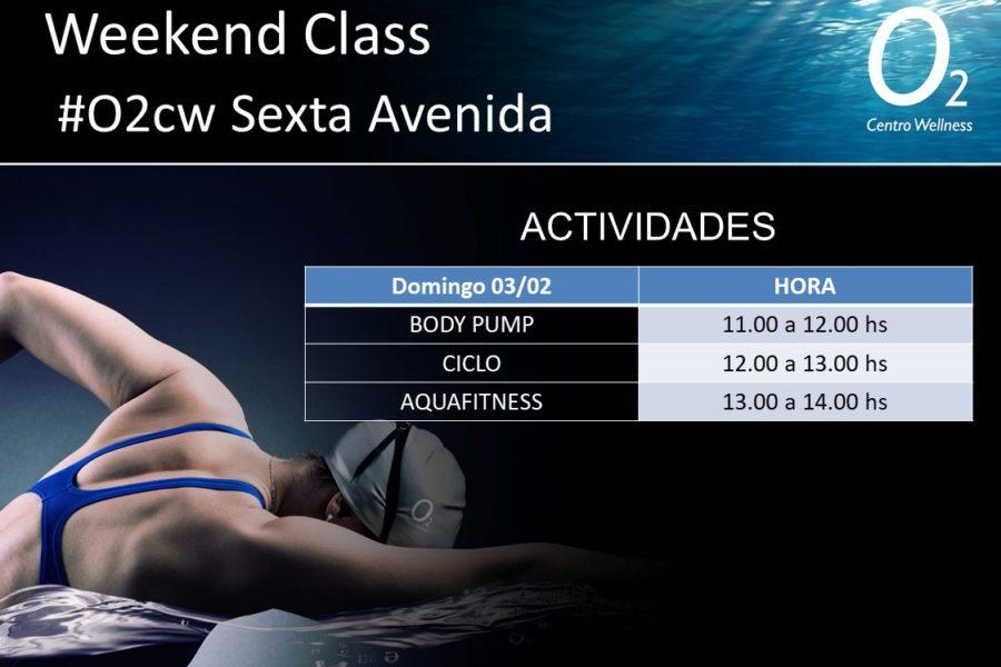 Planificación de la Weekend Class – 03 de Febrero